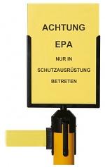 WARMBIER - 1801.G.P.SA4 - Schildhalter für Gurtabsperrpfosten, DIN A4, WL25472