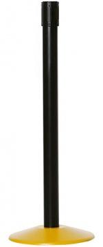 WARMBIER - 1801.G.P.B - Gurtabsperrpfosten, Pfostenrohr schwarz, Bodenplatte gelb, WL25470