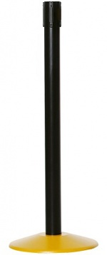 WARMBIER - 1801.G.P.B - Belt barrier posts, post tube black, base plate yellow, WL25470