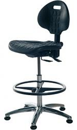 WARMBIER - 1710.PU - ESD chair Industrial PU, high chair version, black, WL25762
