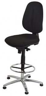 WARMBIER - 1710.ESP.S - ESD Chair ECONOMY PLUS Chair, black with base ring and base cross, WL31917