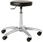 WARMBIER - 1700.VH - ESD stool with wheels, vinyl, black, WL26187
