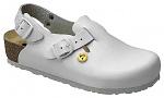 VITAFORM - 3590/WEISS/36 - ESD Clog full cowhide / heel height 3 cm white, 36, WL10153