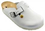 VITAFORM - 3512/WEISS/36 - ESD Clogs full cowhide / heel height 3 cm, white, 36, WL10095