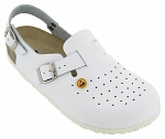 VITAFORM - 3493/WEISS/35 - ESD Clogs full cowhide/perforation, white, 35, WL19006