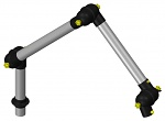 ALSIDENT - 50-3727-1-6 - ESD suction arm system DN50 3 joints, 765 mm, black - table mounting, WL15474