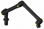 ALSIDENT - 75-5545-1-6 - ESD suction arm system DN75 3 joints, 900 mm, black - table mounting, WL19793