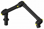 ALSIDENT - 75-3535-1-6 - Suction arm system DN75 3 joints, 830 mm, black - Table mounting, WL37157