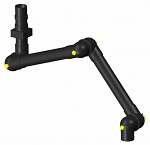 ALSIDENT - 75-9065-3-22-6 - ESD suction arm system DN75 3 joints, 1660 mm, black - ceiling mounting, WL28181