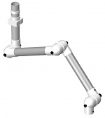ALSIDENT - 75-9065-3-22-5 - Suction arm system DN75 3 joints, 1660 mm, white - Wall-mounted|ceiling-mounted, WL36389