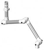 ALSIDENT - 50-3727-3-5 - Suction arm system DN50 3 joints, 750 mm, white - ceiling mounting, WL20633
