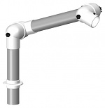 ALSIDENT - 50-27-1-5 - Suction arm system DN50 2 joints, 445 mm, white - Table mounting, WL20601
