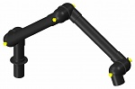 ALSIDENT - 100-6555-1-6 - ESD suction arm system DN100 3 joints, 1370 mm, black - table mounting, WL41335