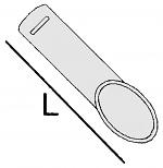 ALSIDENT - 1-7525 - Suction tip DN75, length 250 mm / aluminium, WL15458