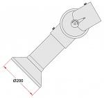 ALSIDENT - 1-10024-7-5 - Round hood white, System 100, D 200 mm, WL32951