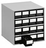 TRESTON - 1640 ESD - ESD-Schubladenmagazin, 16 Schubladen, 400x400x395 mm, schwarz, WL36945