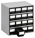 TRESTON - 1630 ESD - ESD-Schubladenmagazin, 16 Schubladen, 400x300x395 mm, schwarz, WL36943