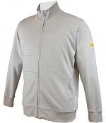HB SCHUTZBEKLEIDUNG - 08014 86012 001 50 - ESD sweat jacket with zip, grey 300 g/m², XS, WL28275
