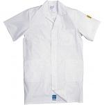 HB SCHUTZBEKLEIDUNG - 08005 48011 011 10 - ESD work coat CONDUCTEX, short sleeve, men, white, XS, WL27967