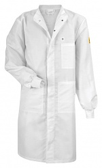 HB SCHUTZBEKLEIDUNG - 06002 46004 000 10 - ESD work coat CLEANTEX, with knitted cuffs, long sleeves, ladies, white, XS, WL36252