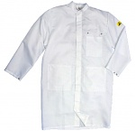 HB SCHUTZBEKLEIDUNG - 06002 46002 000 10 - ESD work coat CLEANTEX, long sleeve, men, white, XS, WL36007