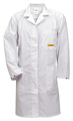 HB SCHUTZBEKLEIDUNG - 08005 48019 000 10 - ESD work coat CONDUCTEX, short sleeve, unisex, white, XS, WL20162