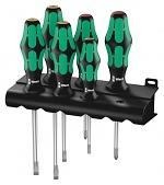 WERA - 05105650001 - 334/6 Rack Screwdriver Set, Kraftform Plus Lasertip + Rack, WL30466