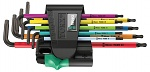 WERA - 05022089001 - 950/9 Hex-Plus Multicolour 1 Angle Wrench Set, metric, BlackLaser, WL36909