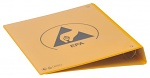 WARMBIER - 5710.RB.Y - ESD ring file DIN A4 PVC IDP-STAT, yellow, back width 45 mm / 4 ring, WL43129