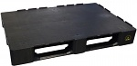 WARMBIER - 5395.PAL - ESD transport pallet with edge, closed carrying surface, 1200x800x155 mm, WL34006