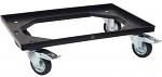 WARMBIER - 5390.250 - ESD transport roller, black, 610 x 410 mm, 2 swivel castors and 2 locking castors, WL42982