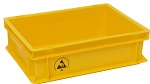 WARMBIER - 5311.Y.05 - ESD IDP-STAT Storage container, conductive, yellow, 300 x 200 x 120 mm, WL39001