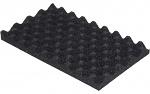 WARMBIER - 4470.1.32 - PU foam, soft, black, burled,253x153x20 mm, WL32225