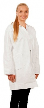 WARMBIER - 2685.EW.M - ESD disposable work coat, unisex, white, 3/4 length, M, WL31242