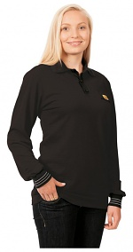 WARMBIER - 2649.P.XS - ESD Polo-Shirt long sleeve, black, unisex, XS, WL44104