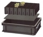 WARMBIER - 5420.553.23.120 - ESD Longitudinal webs for compartments, in storage containers 600 x 400 mm, 553 x 120 x 3 mm, WL25791