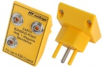 SAFEGUARD - SafeGuard ESD - Erdungsstecker Schweizer Version, 3 x 10 mm DK, gelb, WL34197