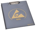 WARMBIER - 5710.CB.B - ESD clipboard with cover, DIN A4 PVC IDP-STAT, 485 x 315 mm, black, WL31179