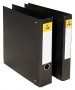 WARMBIER - 5800.846 - ESD ring binder DIN A4, black, back width 45 mm/4 ring, WL20836