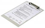 WARMBIER - 5600.500.A4 - ESD clipboard DIN A4, aluminium, white, 230 x 320 x 1.0 mm, WL21018