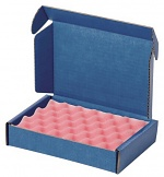 WARMBIER - 5510.903.A15 - ESD shipping box SAFESHIELD, 183 x 127 x 38 mm, with foam 4903.1.15, soft, WL32215