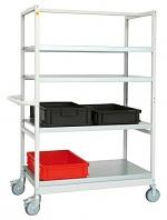 WARMBIER - 5390.V - ESD transport trolley, 5 shelves, 1030 x 600 x 1660 mm, 250 kg, WL27445