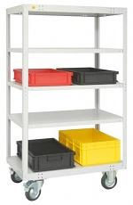 WARMBIER - 5390.T - ESD transport trolley, 5 shelves, 1000 x 600 x 1760 mm, 400 kg, WL32274