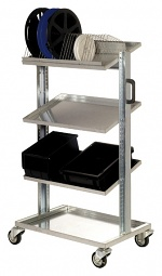 WARMBIER - 5390.1207.01 - ESD transport trolley, 4 shelves, with handles, 740x540x1280 mm, WL21081