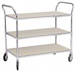 WARMBIER - 5390.700 - ESD transport trolley, 3 shelves, 950 x 540 x 770 mm, 250 kg, WL20089