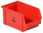 WARMBIER - 5321.R.3Z - ESD storage box IDP-STAT, conductive, red, 350x200x145 mm, WL37025