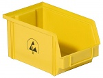 WARMBIER - 5321.Y.4 - ESD visual storage box IDP-STAT, conductive, yellow, 235x145x125 mm, WL26165