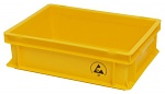 WARMBIER - 5311.Y.10 - ESD IDP-STAT Storage container, conductive, yellow, 400 x 300 x 120 mm, WL30160