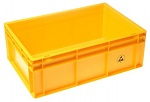 WARMBIER - 5311.Y.24 - ESD IDP-STAT Storage container, conductive, yellow, 600 x 400 x 120 mm, WL25735
