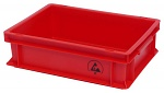 WARMBIER - 5311.R.05 - ESD IDP-STAT Storage container, conductive, red, 300 x 200 x 120 mm, WL40699